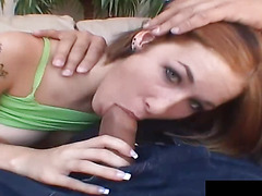Allie Sins gets pounded by different dicks at a time