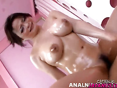 Busty Yuu loves a big cock when having one