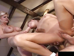 Jasmine Lynns throat is ravaged by gigantic dildo