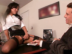 Asa Akira Celebrating secratorys day fucking her boss