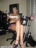 Busty Teen emo showing it all off to her man after doing some house cleaning - bty1