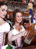 Hot german bartenders fucked hard in these wet beer fuck fest