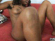 Cute Black Girl With Lots Of Hair On Her Pussy Loves Fucking