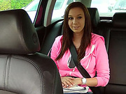 Beautiful Natalie gets scammed and fucked in taxi and receives cumshot