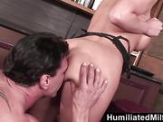 HumiliatedMilfs  Blonde milf loves to get her ass full of cum