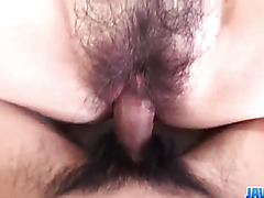 Ayumi Kisa feels massive dick in her hairy cherry