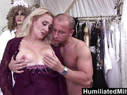 HumiliatedMilfs  Lascivious milf gets her hairy pussy stuffed with cock