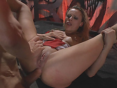 Rocco Italian porn star sharing actual scene at his boot sex camp