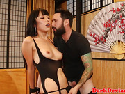 Dominated asian flogged then rides cock