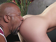 Dahlia Sky Pussy Stretched By Black Dong In Doggy