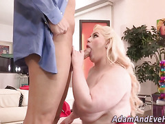 Fat babes mouth creamed