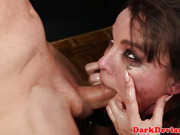 Dominated submissive facefucked harshly