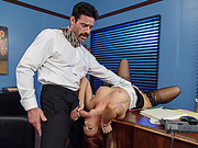 Sexy steamy hot lady boss Dani gets banged by her hunk assistant