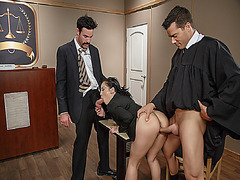 Milf Kristina Rose gets two big cock at once