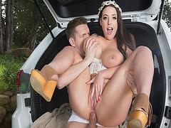 Angela Whites bohemian anal got fuck while her tit got suck