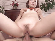Voluptuous, Megu Kamijyou, gets fucked in threesome