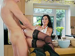 Busty MILF Jasmine Jae gets her pussy fucked hard