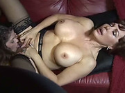 Hot MILF and GILF in lesbian action