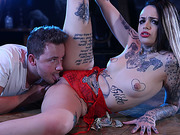 Leigh stripped and fucked her husbands friend for money