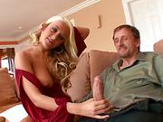 Hot blonde devours studs dick like a pro