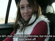 Hot Christine gets fucked in backseat