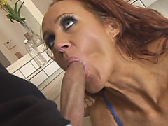 Brunette milf with big tits takes cock in tight ass
