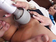 Reiko looks eager to smash this cock in her wet pussy