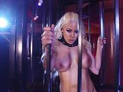 Big assed babe Luna Star slides her pussy on a huge cock