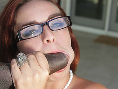 TEENGONZO Slut with glasses Ashley Graham trying a fat BBC
