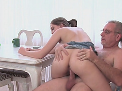 Nickey Huntsman getting her tight cunt penetrated by a stepdad in POV
