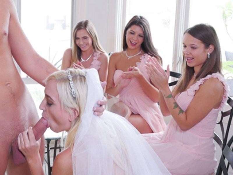 Онлайн порно девичники перед свадьбой проникновение русскими