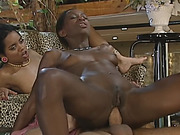 Two African Sluts Take White Schlong Outdoors