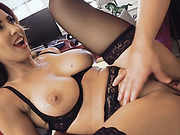 Brunette secretary Isis Love take boner on desk