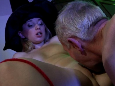 Teen licked and fucked by grandpa with you
