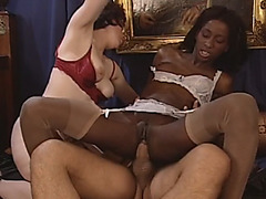 An amazing interracial group fuck in a hotel room in Germany