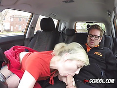 Blondie Misha Mayfair Uses Driving Instructors Cock