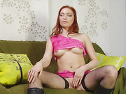 Redhead whore licks hairy mans ass before he fucks her
