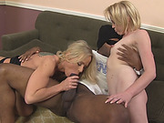 Pornstars Simone Sonay and Miley Mae are having a wild interracial threesome with a BBC