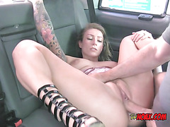 Slut Ava Austen Gets Impaled By Hung Taxi Driver