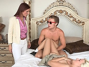 MILF Syren catches her naughty step son