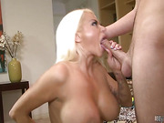 Nikita Von James is a hot blonde housewife with huge tits and a