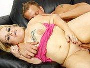 Midget Stella Takes Full Sized Man Meat