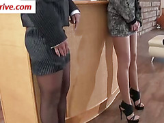 Fetish hoe gets pantyhose wam