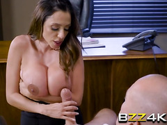 Frustrated MILF boss lady turns table