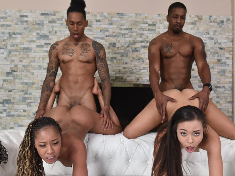 Crotchless panties sex video