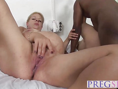 Lustful pregnant sluts got their fine asses nailed by the horny doctor