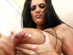Ava Addams keeps her huge knockers nice and firm by following a daily