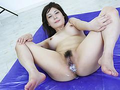 Lovely threesome action along kinky Karen Natsuhara