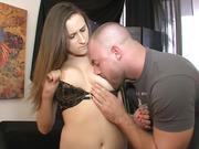 TEENGONZO Busty teen Ashley Adams takes on a big cock