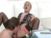 Dude jizzed blonde hotty on casting